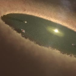 Dust disk around a star