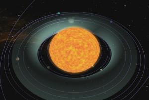 Solar habitable zone