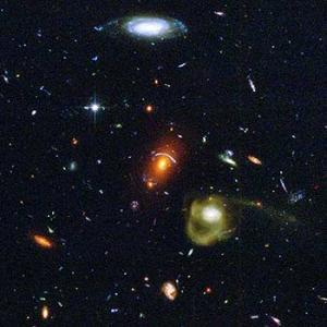 Hubble view of galaxies