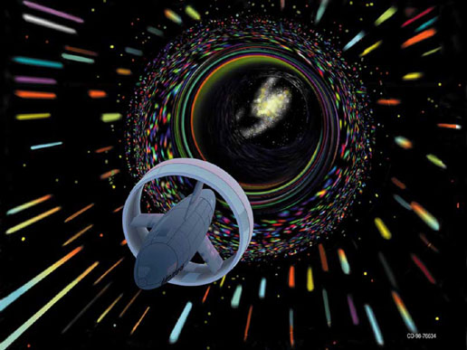 Artist\&#39;s conception of a wormhole