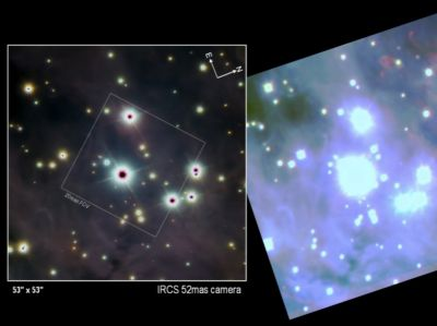 Subaru images with adaptive optics