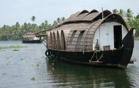 Houseboats on Cochin's backwaters