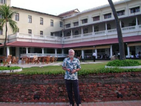 Gregory Benford at the Galle Face.