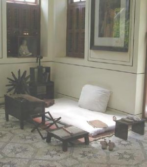 Gandhi's room in Bombay