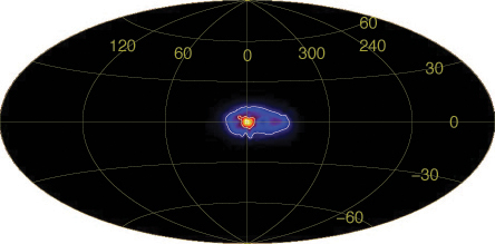 Antimatter cloud around galactic center