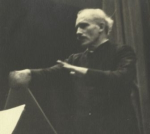 Arturo Toscanini at work