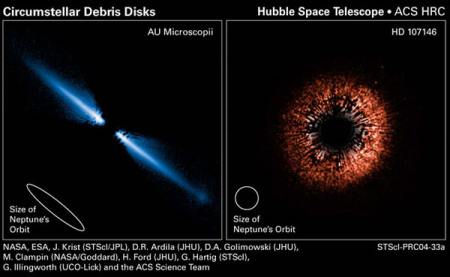 Dust disks around nearby stars