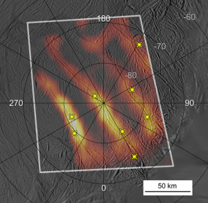 Heat map of Enceladus