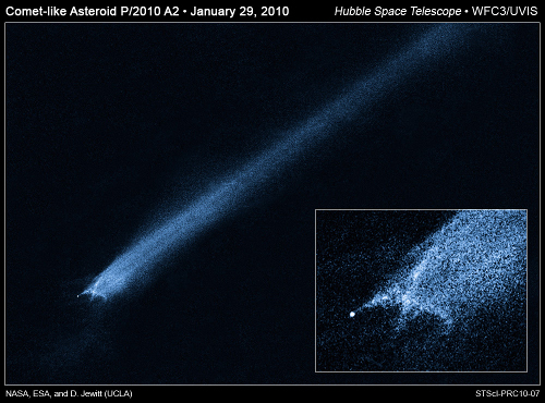 Collision in the Asteroid Belt?