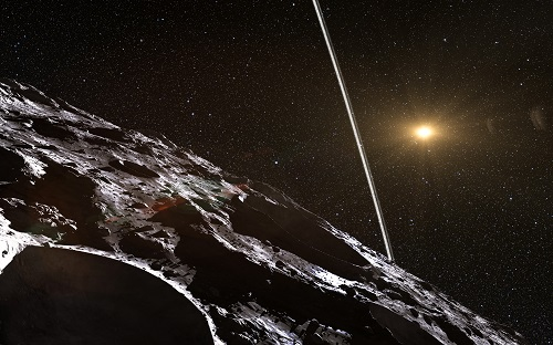 Artist's impression of the rings around Chariklo