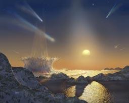 Cometary bombardment around Tau Ceti