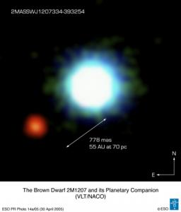 Possible image of an exoplanet