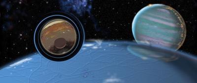 Ice planet wormhole