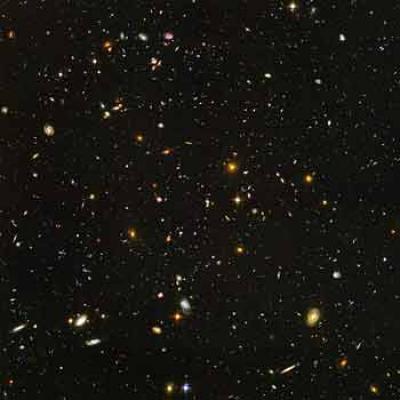 Hubble deep field view
