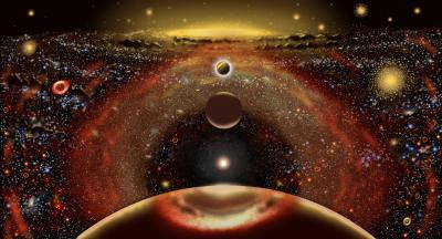 Panorama of galaxy