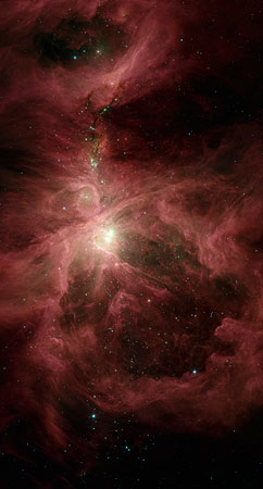 An infrared look into Orion