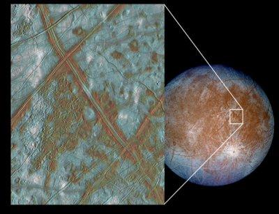 Europa's frozen surface