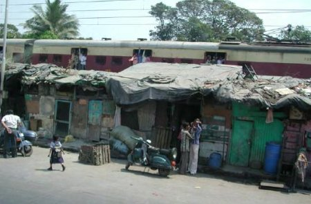 Slums in Bombay
