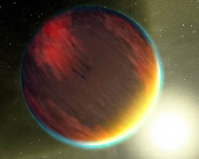 A hot Jupiter near its star