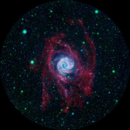 M83 galaxy in false colors