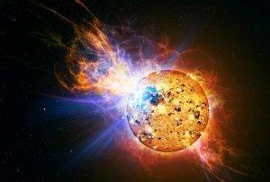 Huge flare on EV Lacertae
