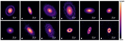 Exoplanet Possibilities in 12 Protoplanetary Disks